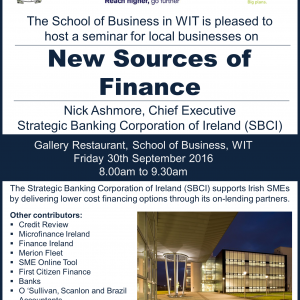 New Sources of Bank Funding for Irish SMEs